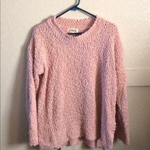 Blush pink popcorn sweater size S